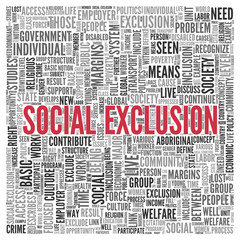 SOCIAL EXCLUSION Concept in Word Tag Cloud Design