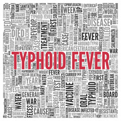 TYPHOID FEVER Concept in Word Tag Cloud Design