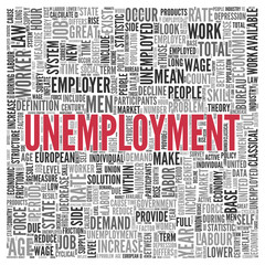UNEMPLOYMENT Concept in Word Tag Cloud Design