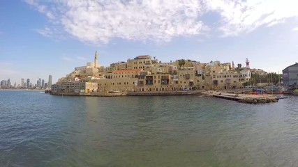 Time lapse View of Jaffa with Tel Aviv in the background