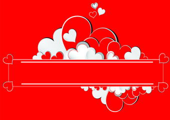 valentines day  love card red hearts