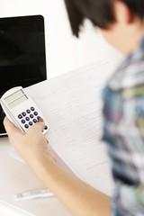 Abrechnung Taschenrechner Büro