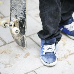 skater mit skateboard
