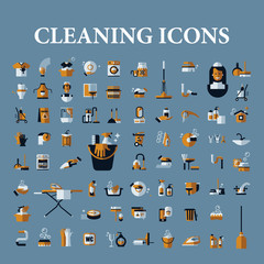 Set of vector icons of black on a white background