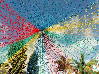 Typischer festlicher Blumenschmuck in Madeira