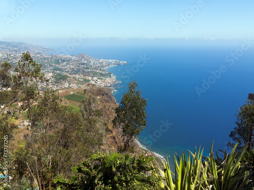 canvas print picture Blick vom Cabo Girao Richtung Funchal, Madeira