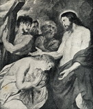 Christ and Mary Magdalene (Peter Paul Rubens, 1618) poster