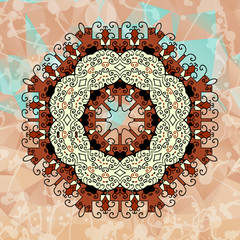 Design elements with abstract pattern.