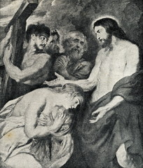 Christ and Mary Magdalene (Peter Paul Rubens, 1618)