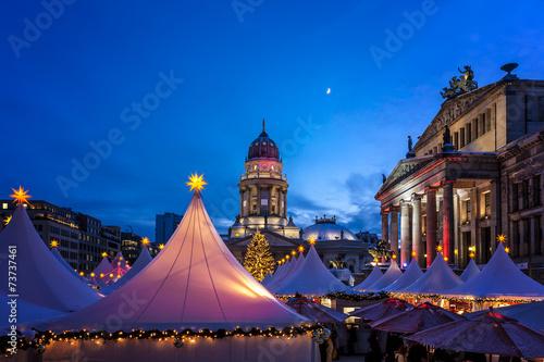 canvas print picture Berlin Weihnachtsmarkt