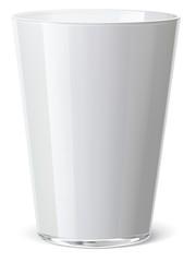 Milk glass isolated. Vector illustration
