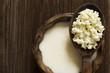 Leinwandbild Motiv Milk kefir seeds