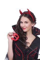 Hübsche Teufelsfrau