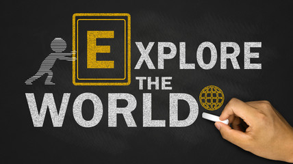 explore the world concept on blackboard