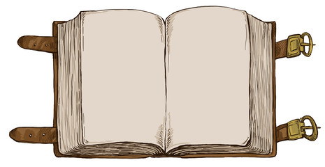 book - hand drawn background, full sized