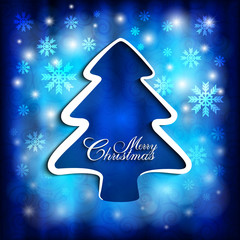 Shape of Christmas tree on abstract background
