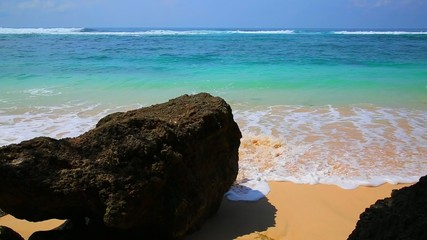 Wave And Sand At The Tropical Beach