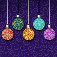 Background with colorful balls