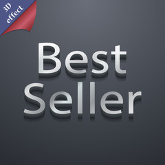 Best seller icon symbol. 3D style. Trendy, modern design with