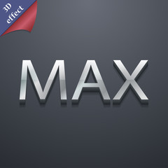 maximum icon symbol. 3D style. Trendy, modern design with space