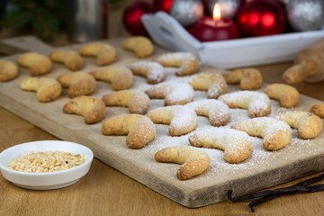 frisch gebackene Vanillekipferl