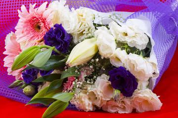 Flowers stem purple color season