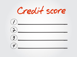 Blank Credit score list, vector concept background