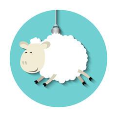 Vector funny sheep