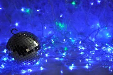 Disco christmas background
