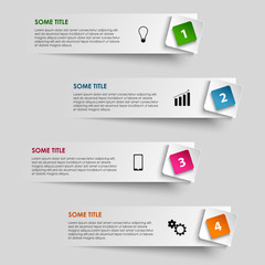 Info graphic striped with colored pointer