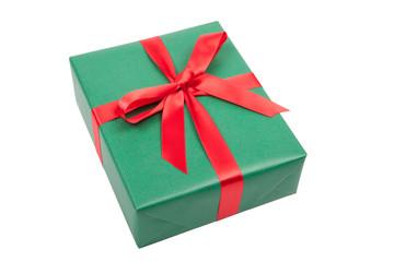 grünes geschenk zu weihnachten