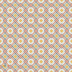 vector cros color seamless pattern