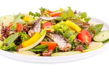 Salad with fish