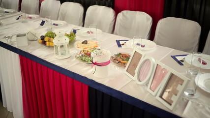 beautiful wedding decor on the table