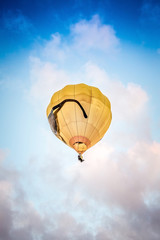 yellow Air Balloon flying