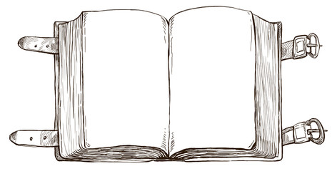 book - hand drawn background