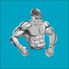 bodybuilders vector