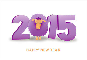 2015 New Year Poster with Sheep