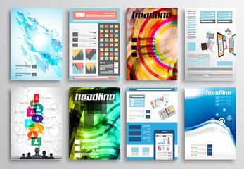 Set of Flyer Design, Web . Brochure Designs, Infographics
