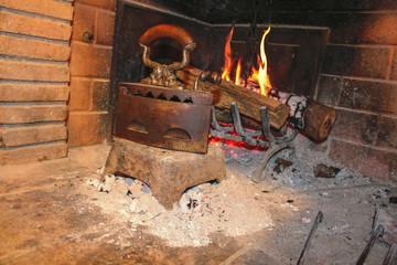 ferro antico su fuoco