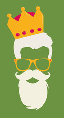 King Hipster Vector look Style