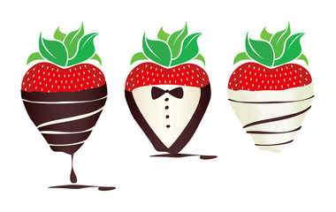 Fancy Chocolate-dipped Strawberries