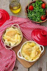 French traditional potato meal Tartiflette