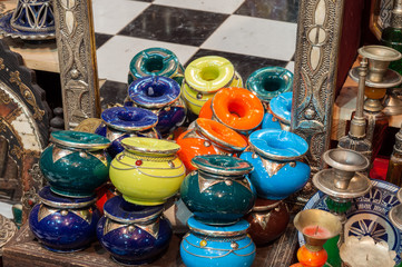 Traditional moroccan ceramics and jewelry