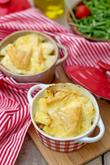 French traditional potato meal Tartiflette