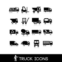 Truck black icon - Set 12