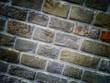 braune Mauer - diagonale Ansicht