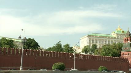 Кремль с речки(ускоренная съемка)