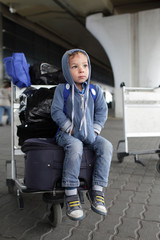 Boy at the airport