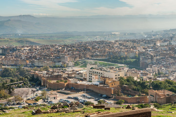 View over the old city of Fez, Morocco, Africa